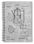 Antique Coffee Percolator Patent Spiral Notebook