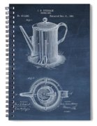Antique Coffee Pot Patent Spiral Notebook