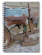 Antique Corn Planter Spiral Notebook
