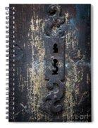 Antique Door Lock Detail Spiral Notebook