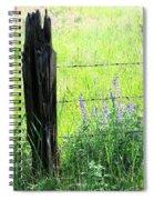 Antique Fence Post Spiral Notebook