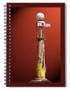 Antique Gas Pump Spiral Notebook