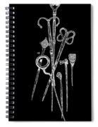 Antique Jewelry Pins Tee Spiral Notebook