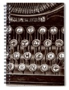 Antique Keyboard - Sepia Spiral Notebook