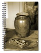 Antique Laundry And Clothes Pins In Sepia Photograph Spiral Notebook