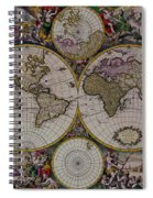 Antique Map Exotic Colorful Spiral Notebook