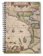 Antique Map Of America Spiral Notebook