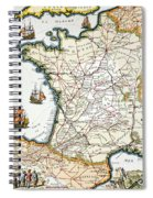 Antique Map Of France Spiral Notebook