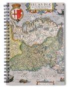 Antique Map Of Ireland Spiral Notebook