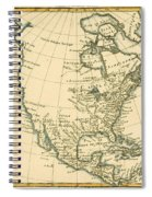 Antique Map Of North America Spiral Notebook