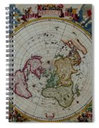 Antique Map Vintage Very Stylish Piece Spiral Notebook