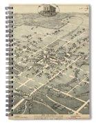 Antique Maps - Old Cartographic Maps - Antique Birds Eye View Map Of Denton, Texas, 1883 Spiral Notebook