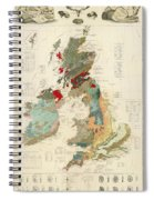 Antique Maps - Old Cartographic Maps - Antique Geological Map Of The British Islands Spiral Notebook