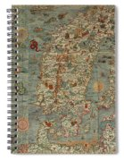 Antique Maps - Old Cartographic Maps - Antique Map Of Scandinavia In Latin, 1539 Spiral Notebook