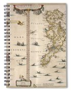 Antique Maps - Old Cartographic Maps - Antique Map Of Schetland And Orkney Islands - Scotland,1654 Spiral Notebook