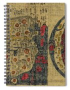 Antique Maps - Old Cartographic Maps - Antique Map Chinese Map Of The World, Ming Era Spiral Notebook