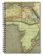 Antique Maps - Old Cartographic Maps - Antique Map Of Africa Spiral Notebook
