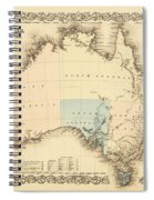 Antique Maps - Old Cartographic Maps - Antique Map Of Australia Spiral Notebook