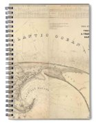 Antique Maps - Old Cartographic Maps - Antique Map Of Cape Cod, Massachusetts, 1836 Spiral Notebook