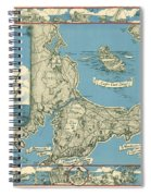 Antique Maps - Old Cartographic Maps - Antique Map Of Cape Cod, Massachusetts, 1945 Spiral Notebook
