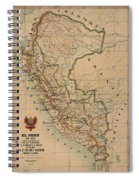 Antique Maps - Old Cartographic Maps - Antique Map Of Peru, South America, 1913 Spiral Notebook
