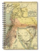 Antique Maps - Old Cartographic Maps - Antique Map Of Syria, 1884 Spiral Notebook