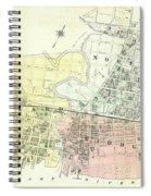 Antique Maps - Old Cartographic Maps - Antique Map Of The City Of Chester, England, 1870 Spiral Notebook
