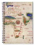 Antique Maps - Old Cartographic Maps - Antique Map Of The World, 1502 Spiral Notebook