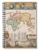 Antique Maps - Old Cartographic Maps - Antique Map Of The World Spiral Notebook