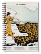 Antique Map Of The United States Of America - The Spirit Of Liberty - The Awakening, 1915 Spiral Notebook