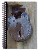 Antique Padlock 1 Spiral Notebook