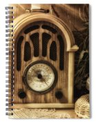 Antique Radio Spiral Notebook