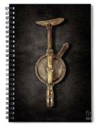 Antique Shoulder Drill Backside On Black Spiral Notebook