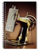 Antique Singer Sewing Machine 2 Spiral Notebook