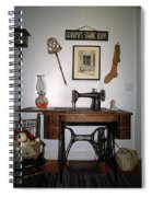 antique Singer sewing machine with treadle Spiral Notebook