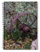 Antique Steel Wagon Wheel Spiral Notebook