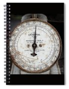Antique Universal Household Scale Spiral Notebook