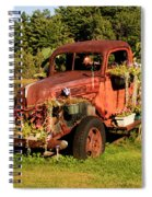 Antique Vehicle As A Planter Spiral Notebook