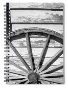Antique Wagon Wheel In Black And White Spiral Notebook