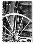 Antique Wagon Wheel Spiral Notebook