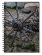 Antique Wagon Wheel Spiral Notebook