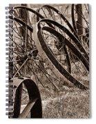 Antique Wagon Wheels II Spiral Notebook