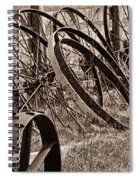 Antique Wagon Wheels II Spiral Notebook