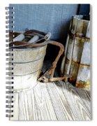 Antique Wooden Buckets Spiral Notebook