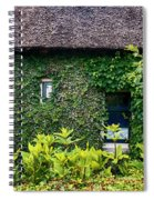 Antique Yard And Green Facade,  Dutch House Spiral Notebook