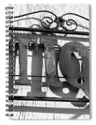 Antiques Store Sign Spiral Notebook
