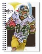 Antonio Brown Pittsburgh Steelers Oil Art 4  Spiral Notebook