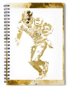 Antonio Brown Pittsburgh Steelers Water Color Art 4 Spiral Notebook