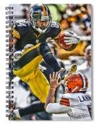 Antonio Brown Steelers Art 5 Spiral Notebook