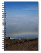 Anuenue - Rainbow At The Ahinahina Ahu Haleakala Sunrise Maui Hawaii Spiral Notebook